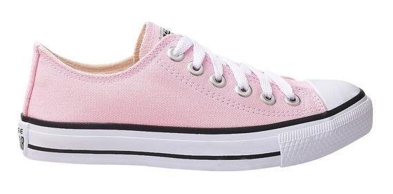 Tênis Converse All Star Cano Baixo Rosa Bebê