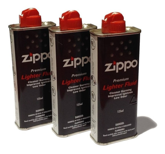 Combo 3 Fluido Becina Zippo Original X 125ml Made In Usa