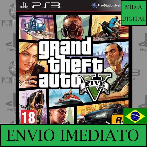 Gta 5 V Ps3 Grand Theft Auto Cod Psn Envio Agora