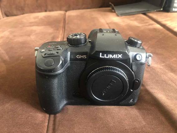 Panasonica Lumix Gh5 Com Adaptador Lente Canon E 3 Baterias
