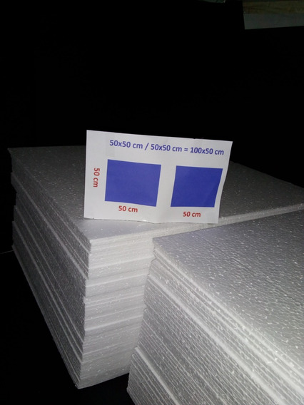 Isopor 50x50x20mm [ 2cms } C/ 24 Placas Saõ Paulo
