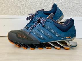 Tenis adidas Springblade Azul/laranja