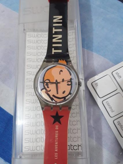 Swatch Les Aventures De Tintin Gm165 - Raro!