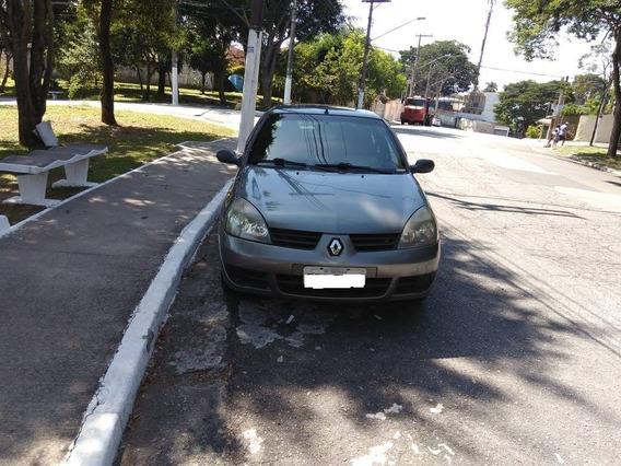 Renalt Clio Motor 1.0 2007 Cinza 4 Portas