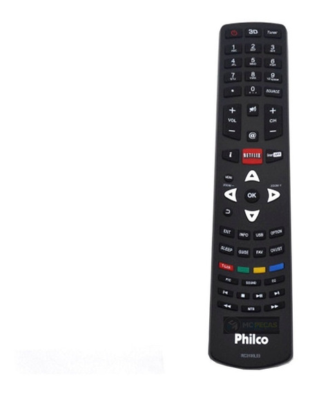 Controle Tv Philco Smart Original 3d Rc3100l03 Netflix Novo