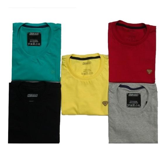 5 Camisetas Básicas Dótilis + Brinde