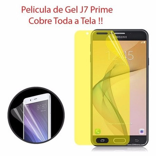 Película Gel Antishock Samsung Galaxy J7 Prime Tela Completa