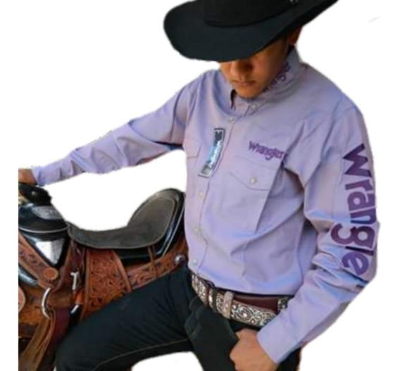 Camisa Vaquera Wrangler Logo Bordado