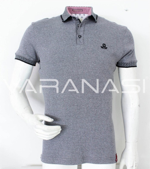 Playera Hombre Tipo Polo 947 Slim Fit Moda Varanasi