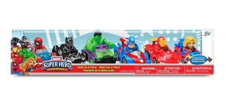 6 Carritos De Friccion Superheroes Marvel Figuras De Accion