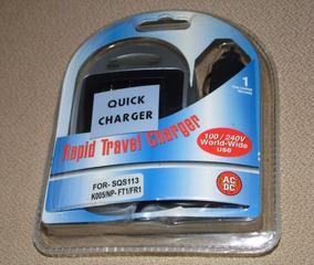 Carregador Bateria Sony Np-fr1 Ft1 Np-fe1 Rapid Veicular