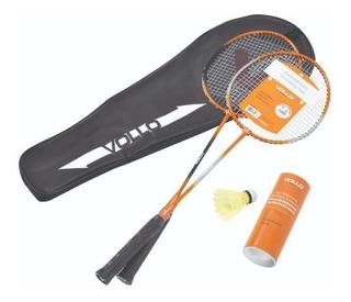 Kit Vollo Badminton 2 Raquetes Promoção