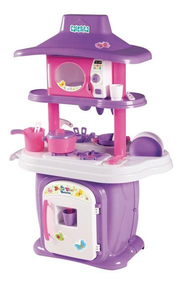 Cozinha Infantil Com Pia E Água Fogão + Forninho + Panelinha