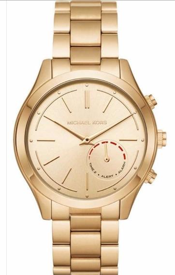 Reloj Dama Michael Kors Híbrido Color Dorado