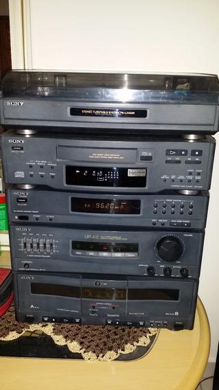 Relíquia Som Sony Lbt - A12 Cd, Toca Discos, Radio E Toca Fitas