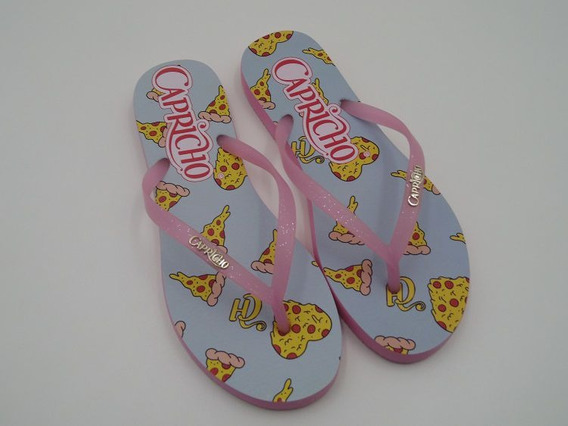 Chinelo Capricho Shoes Love Pizza Gloss Feminino Cp3102