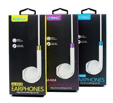Fone De Ouvido Com Fio Earphones Le-0218