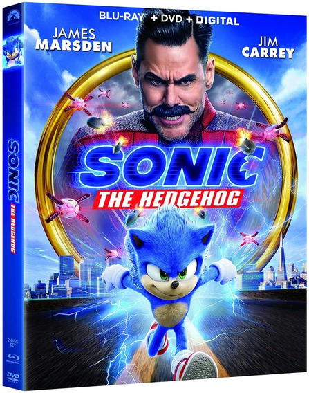 Sonic La Pelicula Jim Carrey Importada Blu-ray + Dvd
