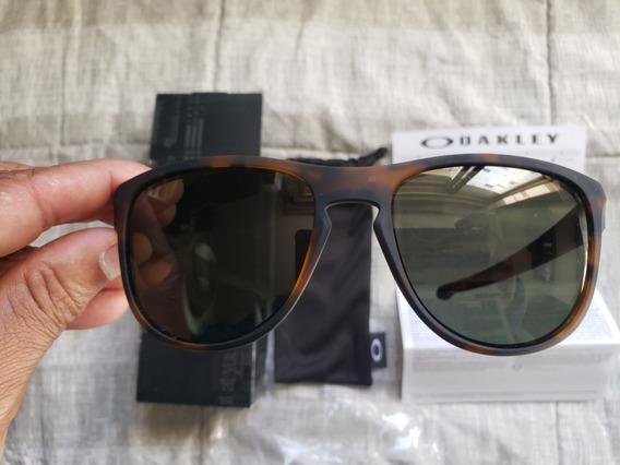 Oculos Sol Oakley Sliver Marron Original Caixa