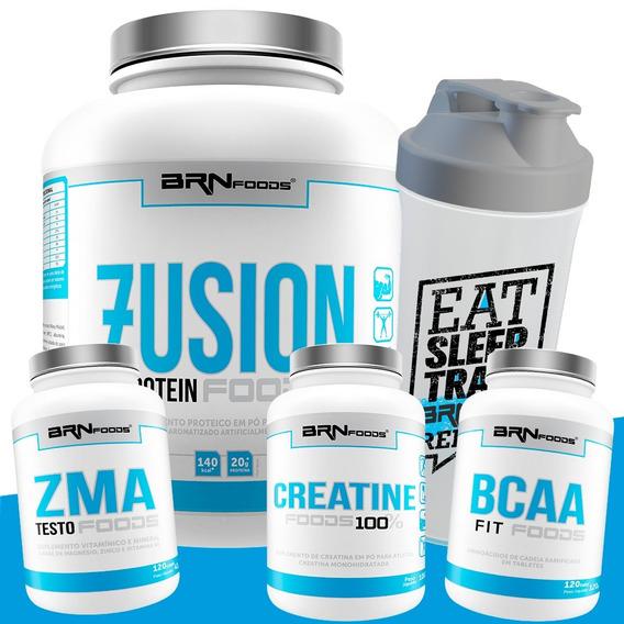 Whey Protein Blend 2kg + Bcaa + Zma + Creati. - Brn Foods