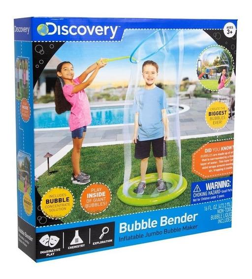 Aro Inflable Con Mango Para Burbujas Gigantes Discovery Kids