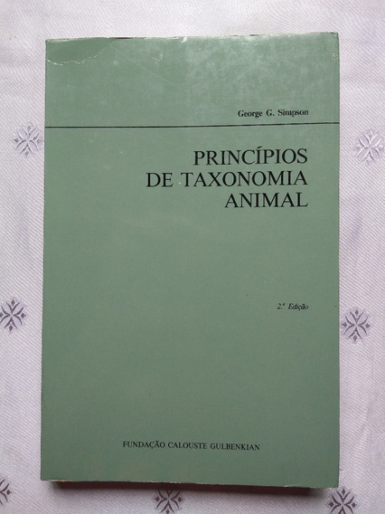 Livro - Princípios Da Taxonomia Animal - George Simpson