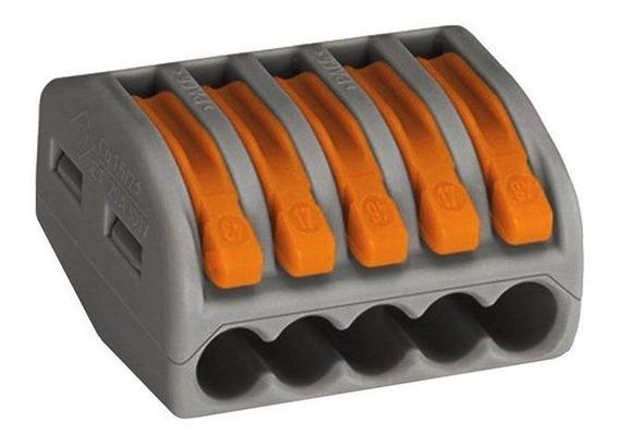 Conector Automático Pentapolar 222-415 Cinza 40 Peças Wago