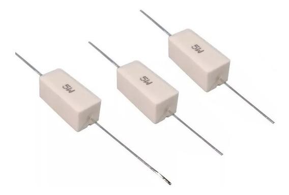 5un Resistor Porcelana 5w Escolha 1 Valor Ohmico Na Lista