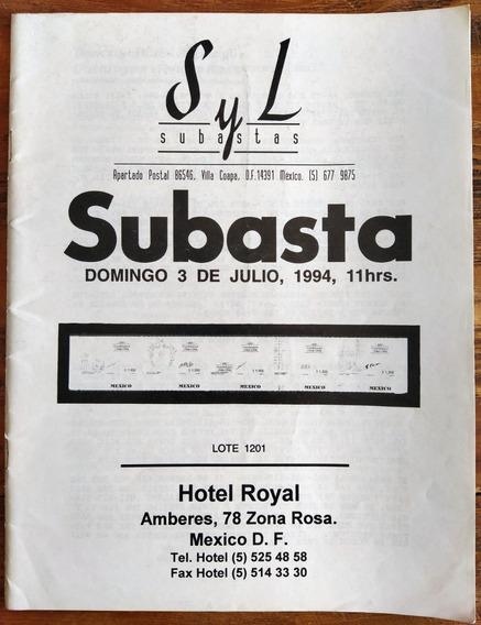 Mexico Catalogo Subasta S Y L Jul 1994 Literatura Esencial P