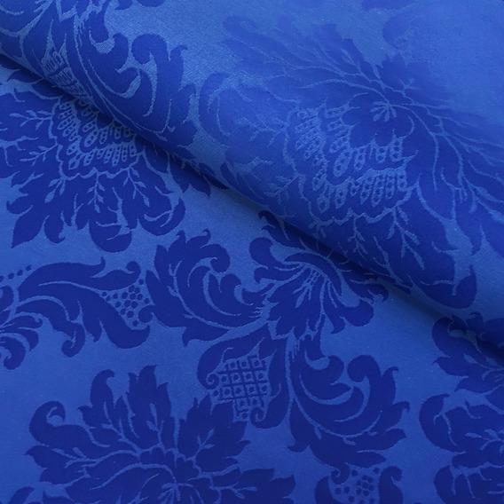 Tecido Para Decoração Jacquard Azul Royal 2m X 2.80m