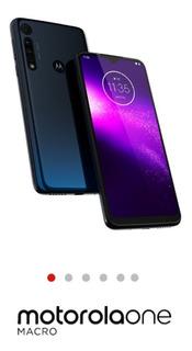 Celular Motorola One Macro Lacrado.64gb Azul Espacial.