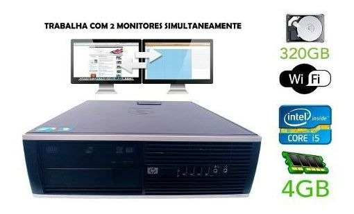 Cpu Pc Desktop Hp Compaq 8100 Elite I5 750 / 320 Gb 4gb