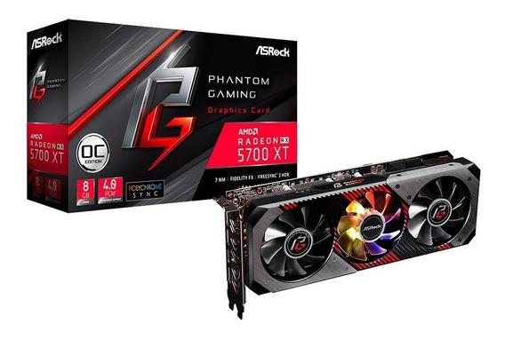 Placa De Video Asrock Rx 5700xt Phantom Gaming Oc 8gb Gddr6
