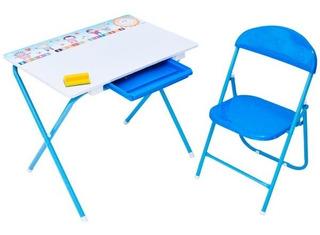 Escritorio Mesa + Silla Plegable Para Niña Y Ninos