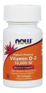 Vitamina D3 10000 Ui 120 Cap Softgels (importada) - Now