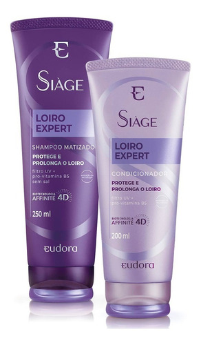 Siàge Loiro Expert - Shampoo Matizador + Condicionador