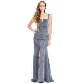 6dd272ffe Vestido De Noche Azul Petroleo Con Cauda - Vestidos de Mujer en ...