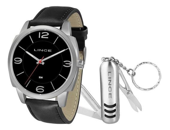 Relógio Lince Masculino Mrc4541l Kf66 + Canivete