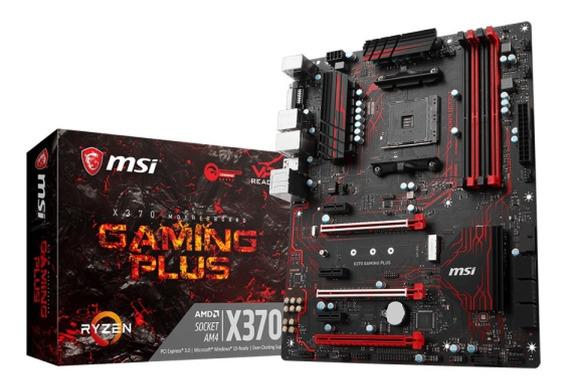 Placa Mãe Msi X370 Gaming Plus Chipset X370 Amd Am4 Atx Ddr4