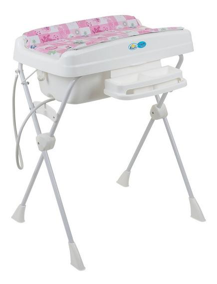 Banheira Millenia Com Trocador Peixinhos Rosa Burigotto