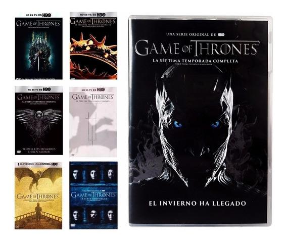 Game Of Thrones 1-7 Boxset Serie Dvd Juego De Tronos