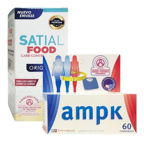 Combo Ampk 60 Comp + Satial Food Carb Controller Adelgazante