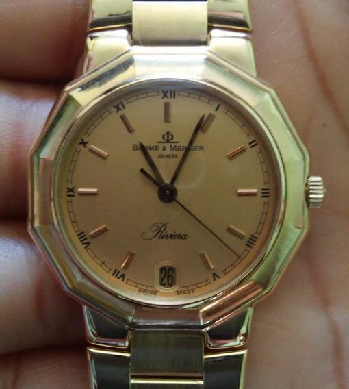 Relógio Baume & Mercier Riviera Todo De Ouro 18k