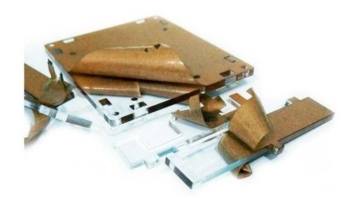 Case Acrílico Transparente C/ Parafusos Arduino Mega 2560