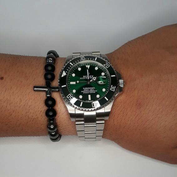 Rolex Submariner + Pulseira Original De Pedra De Brinde