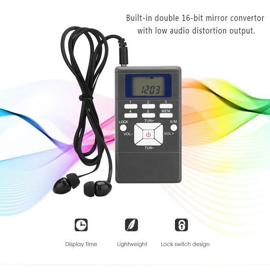 Mini-rádio Digital Portátil / Receptor Móvel Com Processador