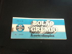 Carnê Bolão Do Grêmio A Sorte Olímpica Série B Ano 1980