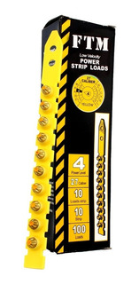 Cargas Amarillas Cal 27 + Clavos Caja X 100 Unidades