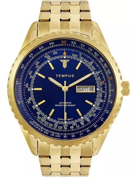 Relógio Masculino Tempus Magnific Zw30321a Gold Blue Oferta