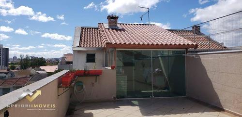 Cobertura Com 2 Dormitórios À Venda, 155 M² Por R$ 445.000,00 - Vila Pires - Santo André/sp - Co1022